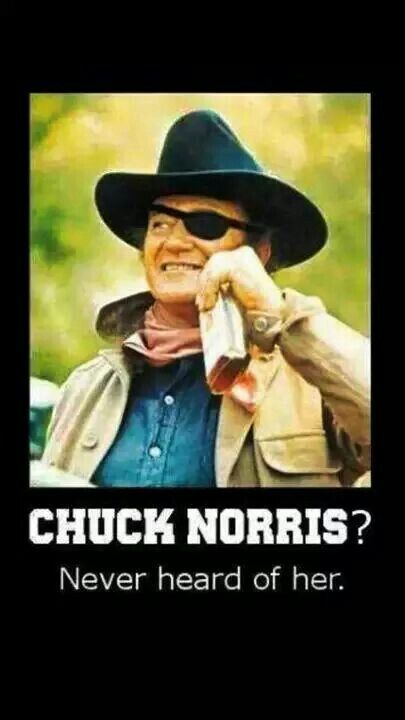 John Wayne V Chuck Norris Lol I Love The Chuck Norris Jokes But