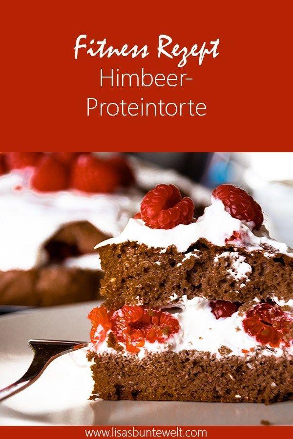 Fitness Rezept | Himbeer-Proteintorte - LisasBunteWelt