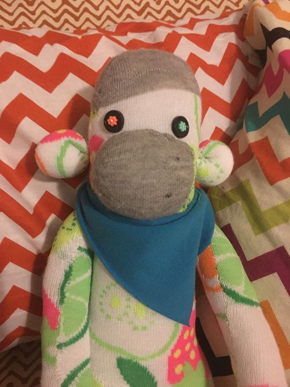 Sweet Sophie The Citrus Sock Monkey Stuffed Animal By Barhdesigns