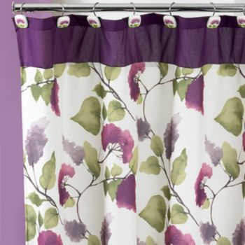 Jasmine Fabric Shower Curtain Fabric Shower Curtains Patterned