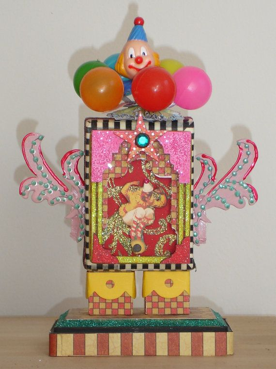 Vintage Circus Mixed Media Assemblage by tristanrobin on Etsy
