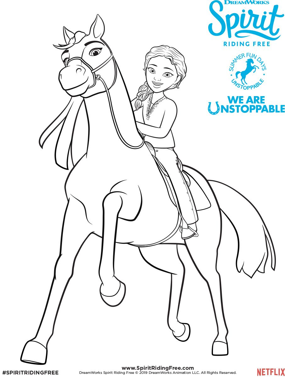Pru Coloring Page Spirit Riding Free Horse Coloring Pages Free Coloring Pages Coloring Pages