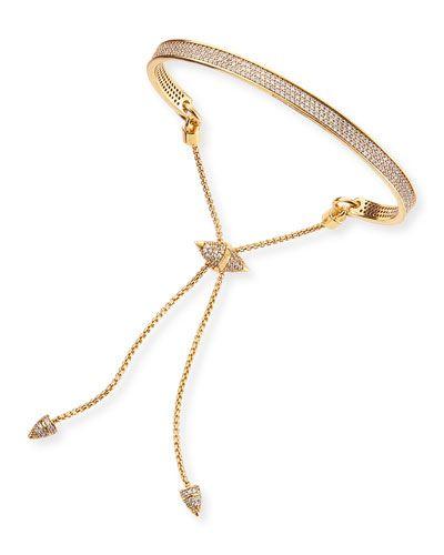 Eddie Borgo | Gold-Plated Pave toggle Bracelet