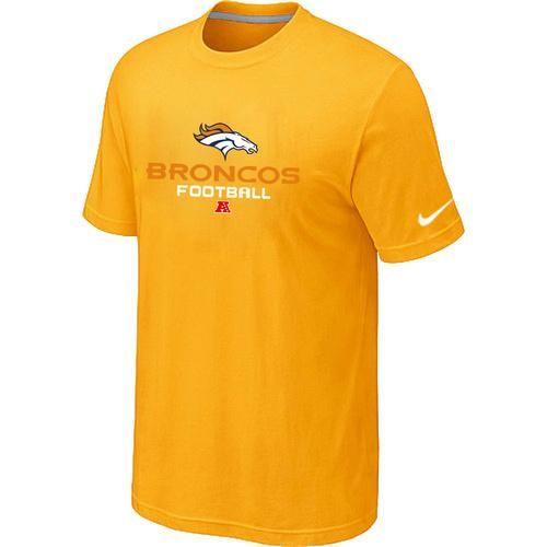 Nike Denver Broncos Big & Tall Critical Victory NFL T-Shirt Yellow @Emillia Kelly