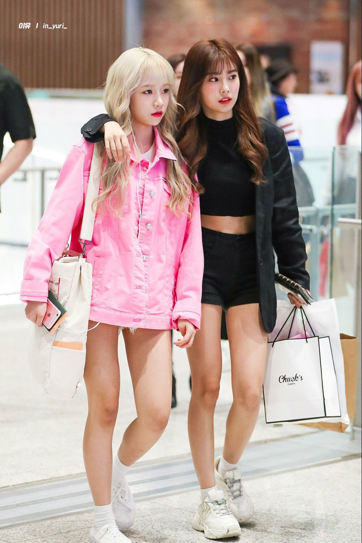Joyuri Kanghyewon Izone Wizone Airport Fashion Kpop Kpop Fashion Korean Fashion
