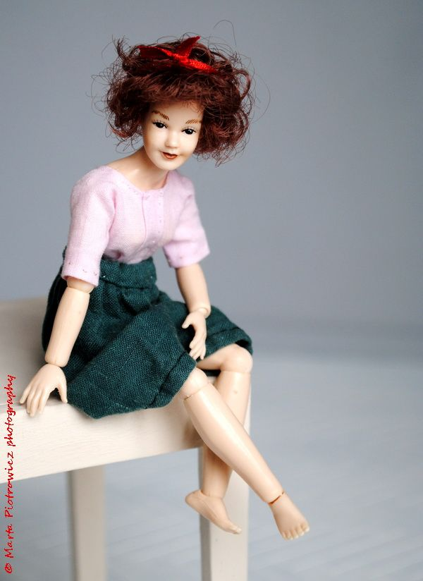 "1:12 Scale ClothesHeidi Ott Doll Dress Handmade For Slender 5.5/"" Miniature Doll"