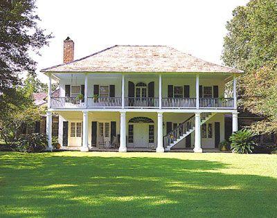 Louisiana Plantation Style Home Plans