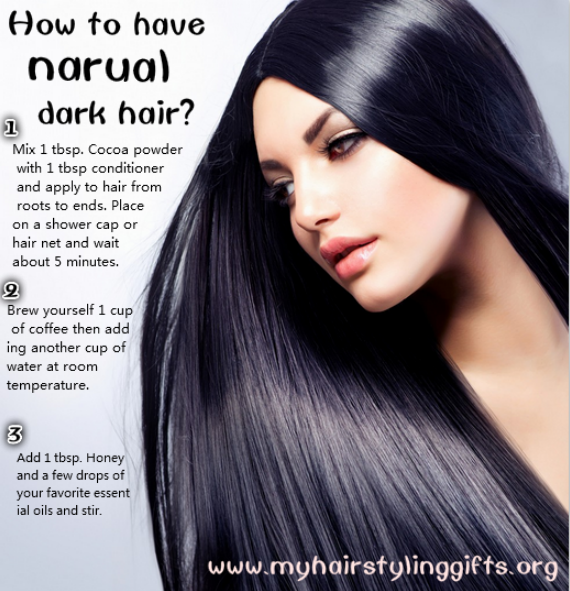 Darken your natural hair color at home without using