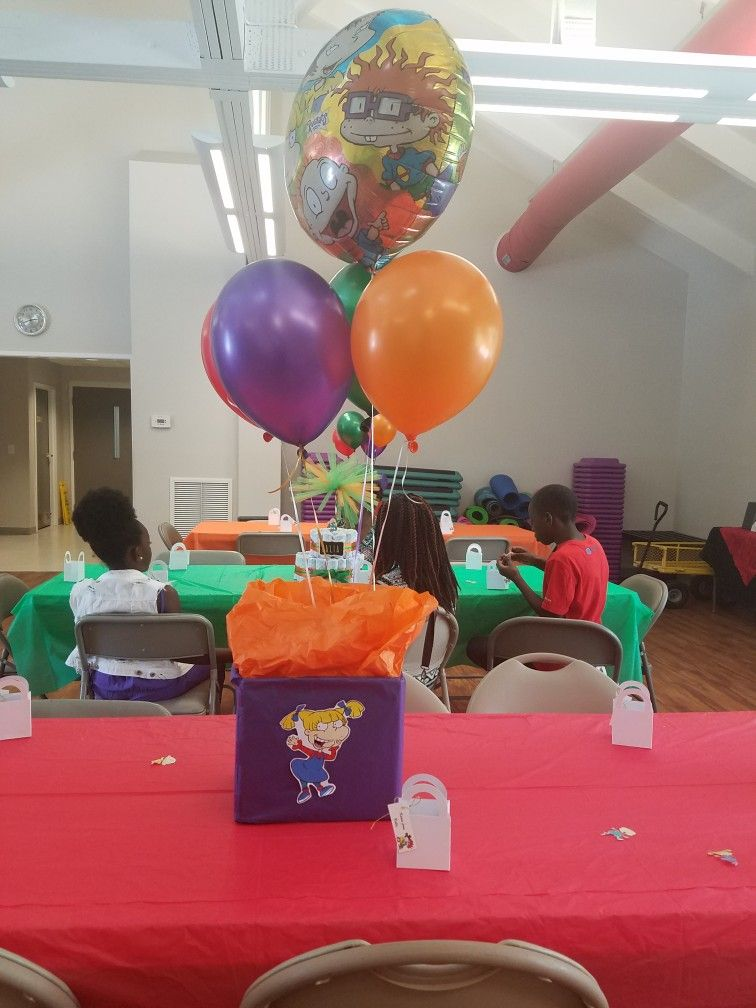 Rugrats box center pieces Toy story birthday party, Baby