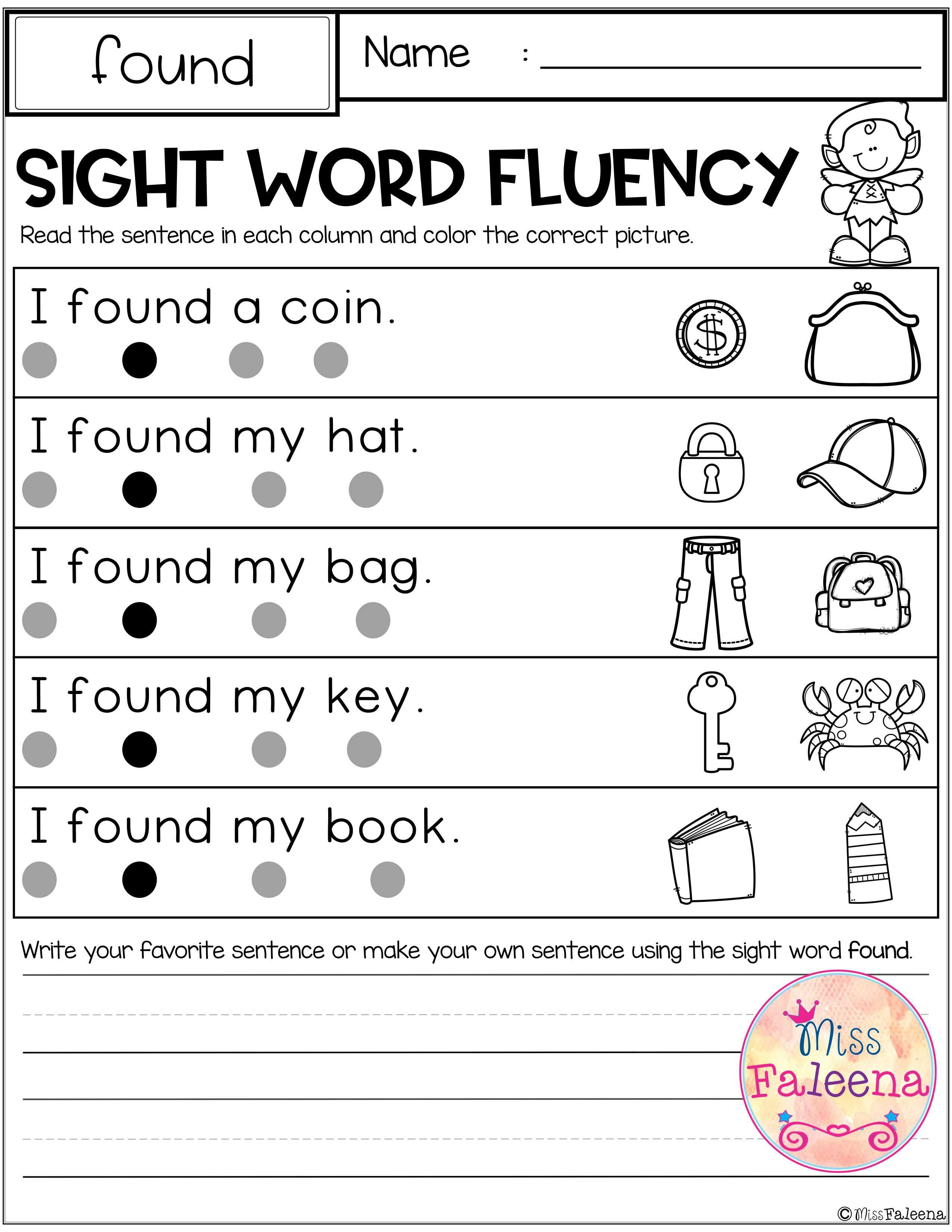Sight Word Fluency Second Grade With Images