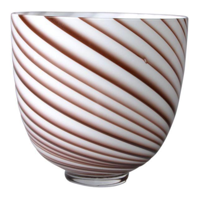 Image Of Original Tommaso Barbi Italian Murano Decorative Bowl