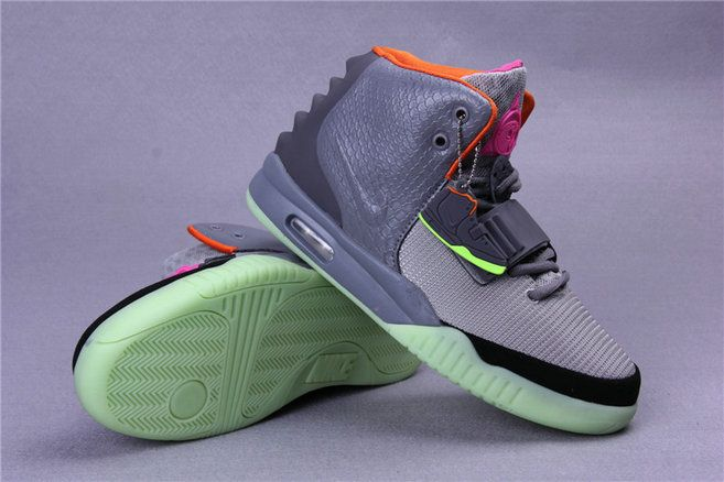 Free Shipping Only 69$ Nike Air Yeezy 2 Dark Grey Hyper Pink Pure Platinum  Green