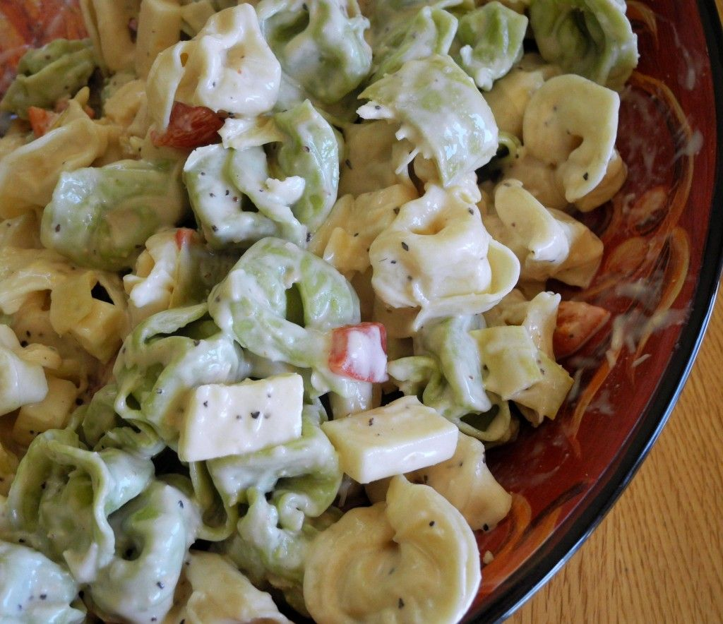 Tortellini salad: Pretty good, I went with a yogurt ceasar dressing to lighten the calorie load. Hubs wanted less artichoke.