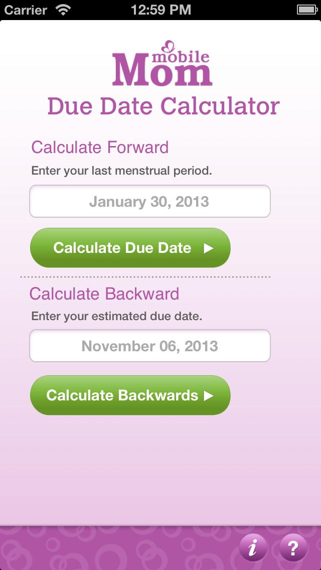 Due Date Calculator - My Baby Wheel & Countdown Birth ...
