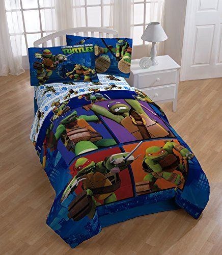 Amazon Com Teenage Mutant Ninja Turtles Comforter And Sheet Set Tmnt Bedding Kids Comforter Sets Kids Bedding Sets