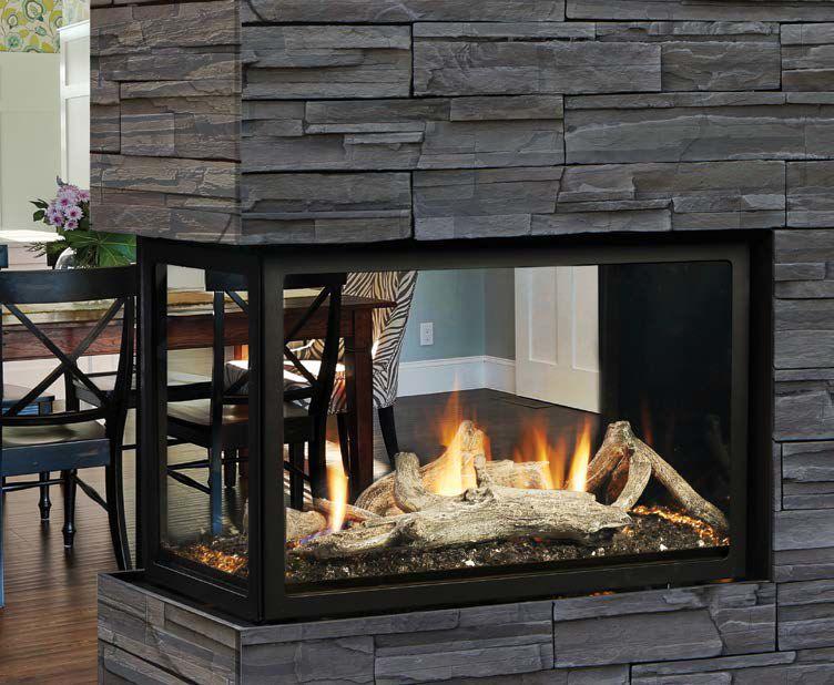 Kingsman Mcvst42 Zero Clearance Direct Vent Peninsula Gas Fireplace