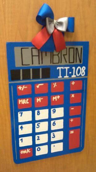 Calculator Door Hanger Great For Teachers 35 Classroom Door