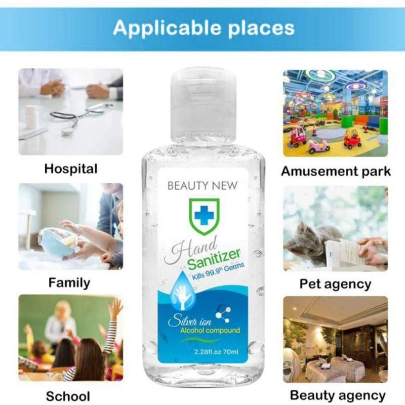 70ml Portable Travel Hand Antibacterial Sanitizer Gel Hand