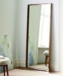 Mid-Century Dowel Mirror – Pecan | Floor mirror, Apartments ...