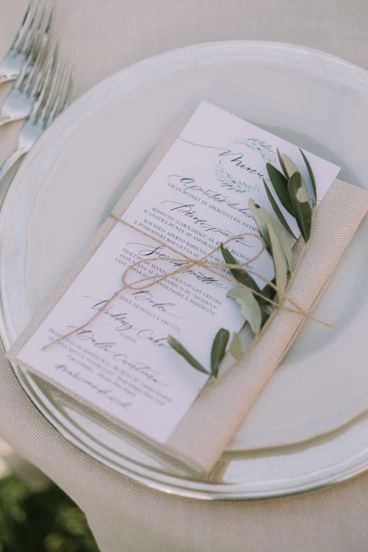 Segnaposto Matrimonio Ulivo.Foglie D Ulivo Per Un Matrimonio Organico Segnaposto Wedding