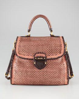 0d57a361c2 Prada Madras Woven Bag