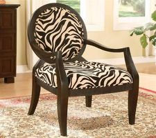 Best Accent Chair With Zebra Print In Black Finish 2037 400 x 300