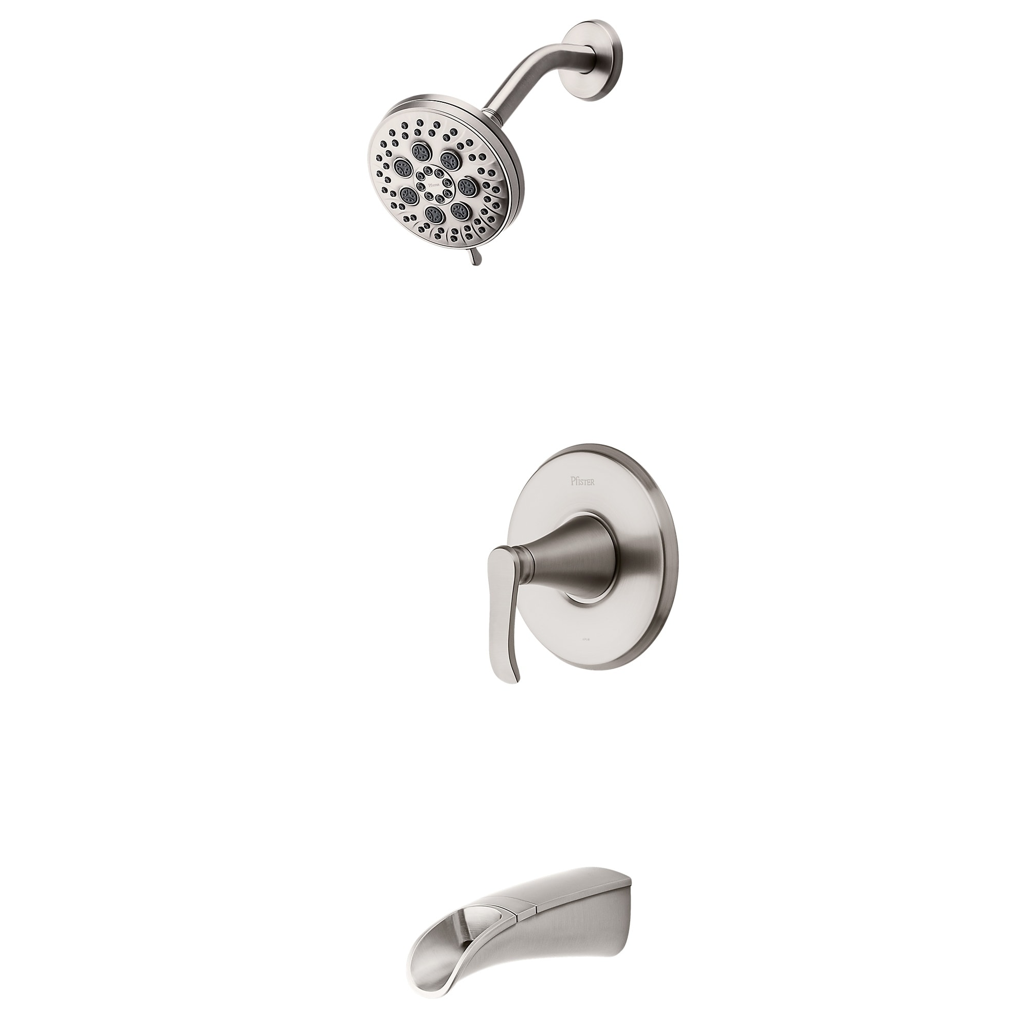 Pfister Jaida Brushed Nickel 1 Handle Tub And Shower Faucet With