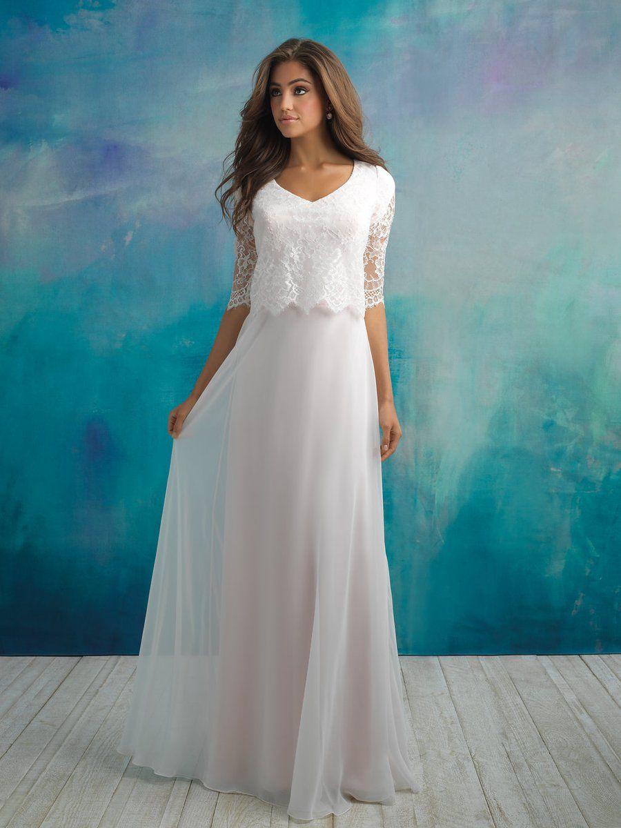 Allure M591 Modest Wedding Dress in 2020 Modest wedding