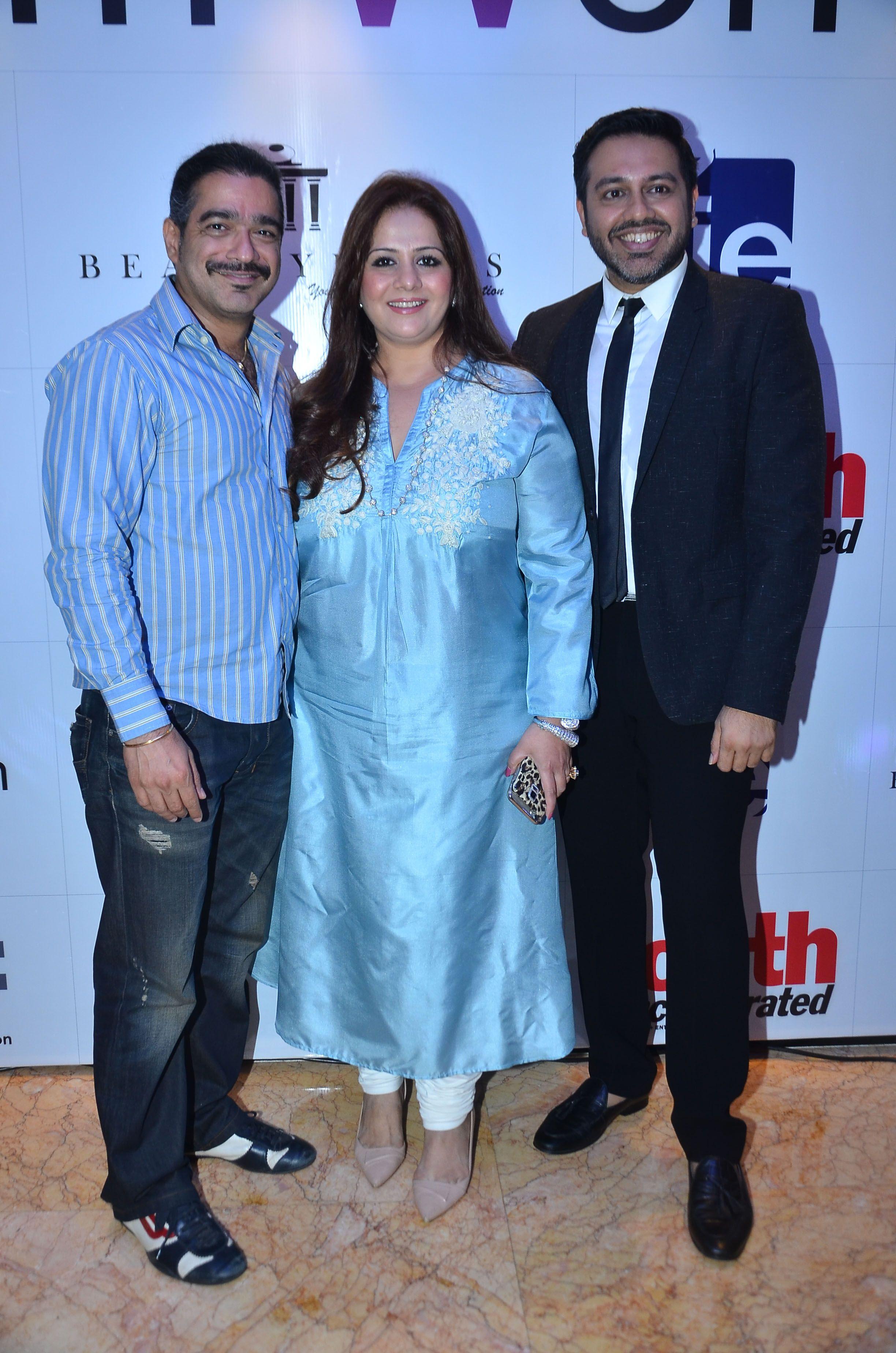 Vinay bhasin kiran bawa and nitish shah at the i am woman event