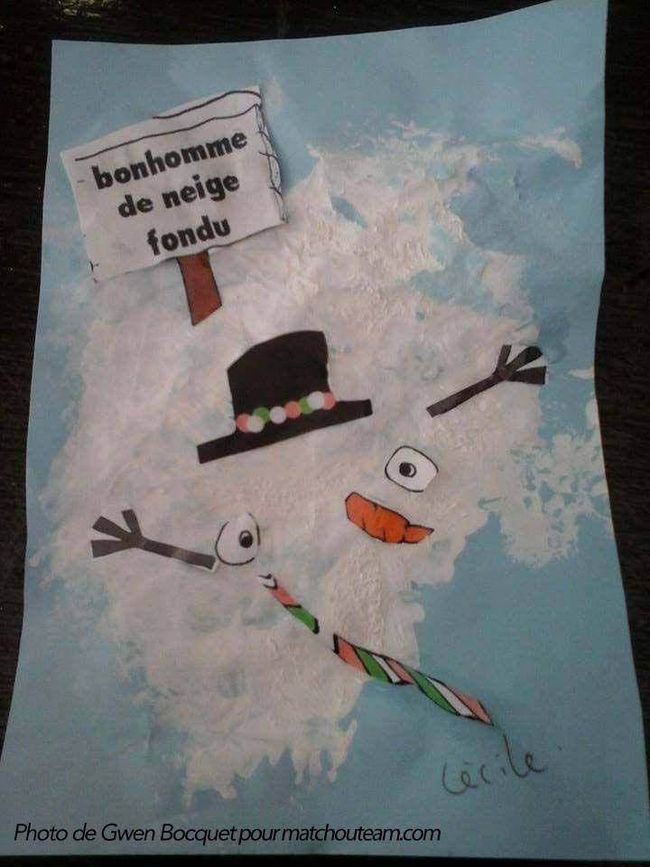 Zut !!! Mon bonhomme de neige a fondu !