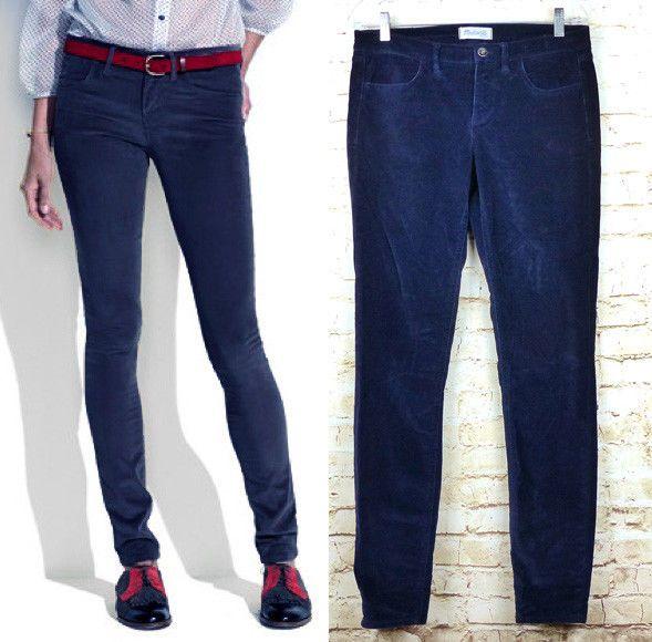 3a12b41e05a4 Madewell Skinny Navy Blue Corduroy Pants Womens Size 27 Style 59686 $128  EUC #Madewell #CasualPants #Casual
