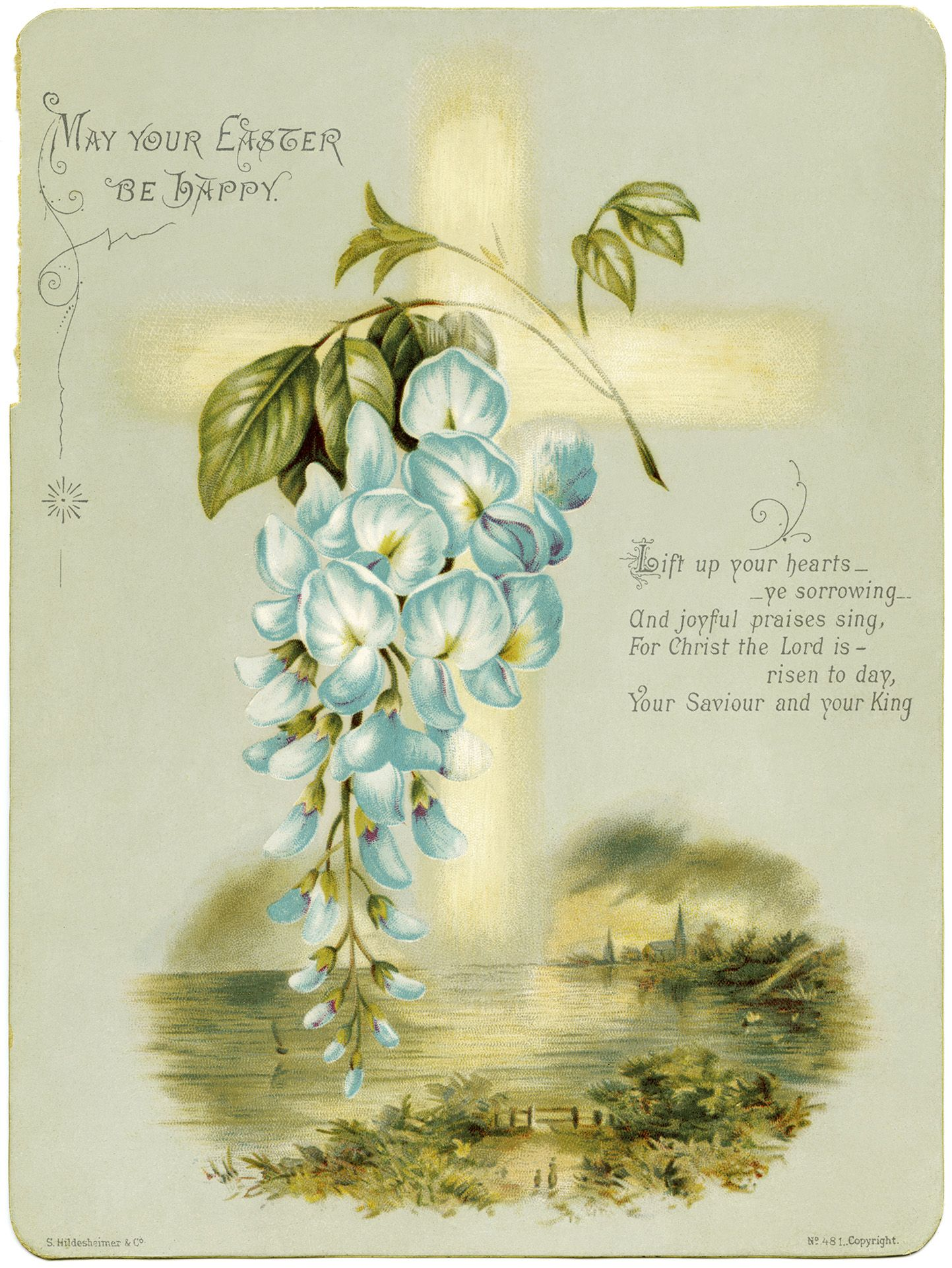 Old Design Shop Free Digital Image Antique Hildesheimer Easter