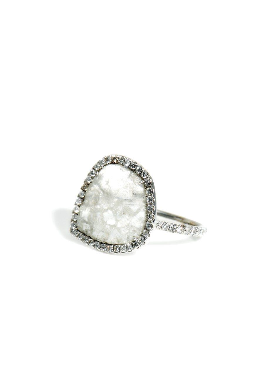 Diamond slice & white-gold ring Susan Foster 1rK5F