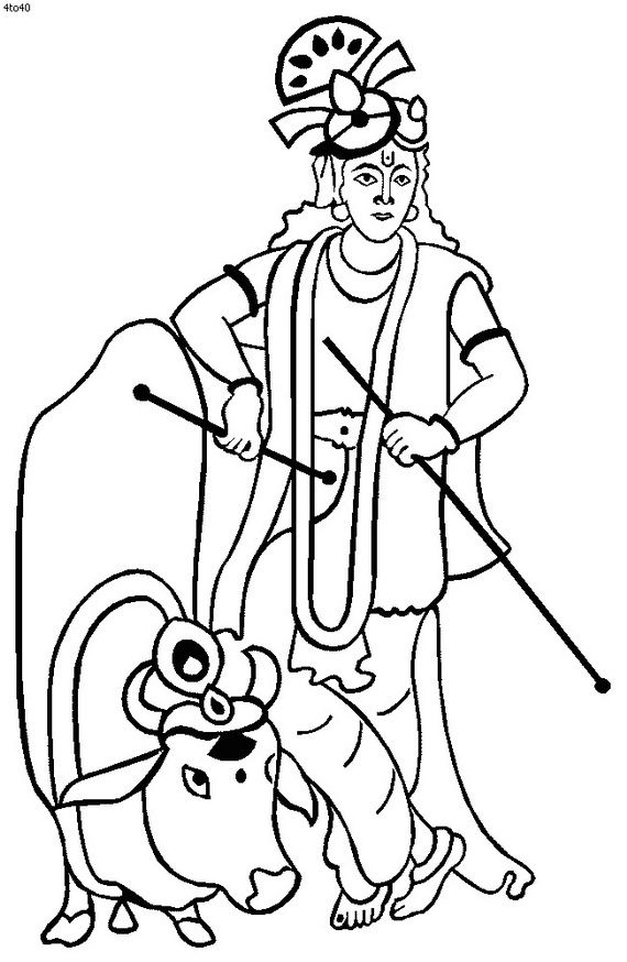 for pongal festival colouring pages (page 2) | Indian Festivals For ...