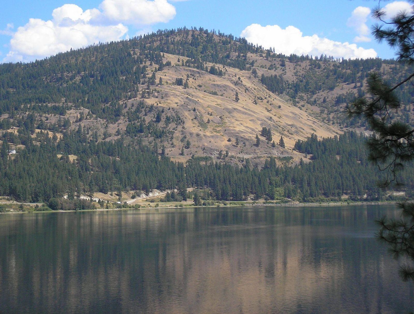 Lake Roosevelt Ne Washington State On Columbia River