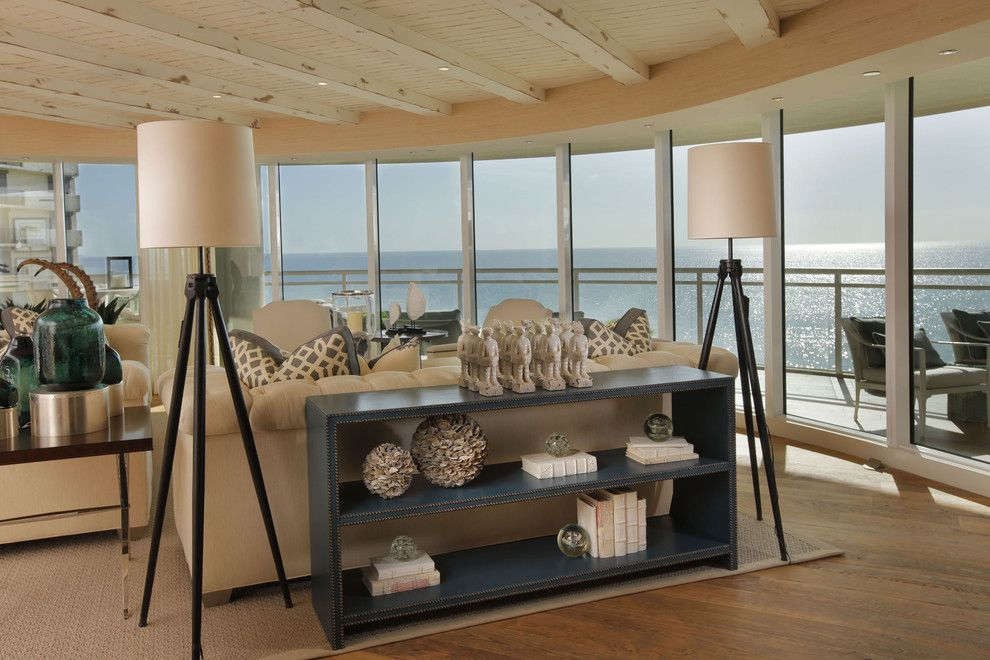 Cheap console table decorating ideas living room beach for Cheap beach decorations for the home
