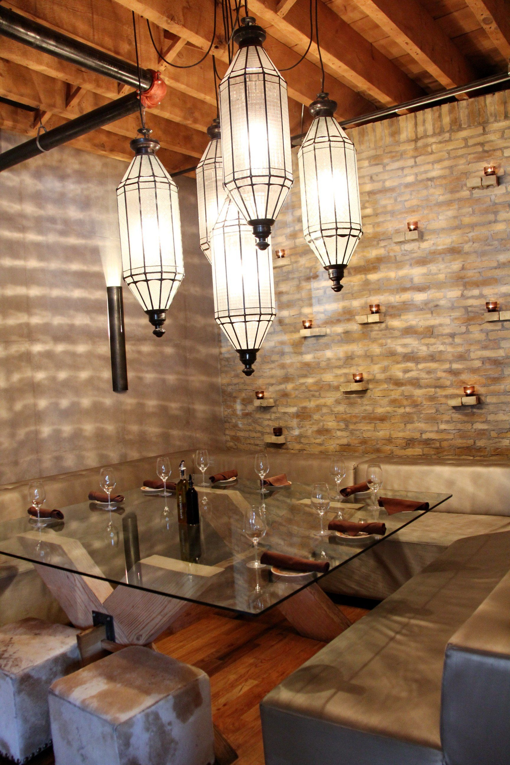 Modern industrial chic interiors at cibo wine bar 2472 yonge st toronto