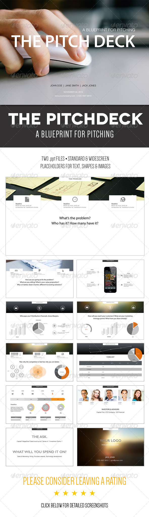 The pitch deck a powerpoint template pitch decking and template the pitch deck a powerpoint template graphicriver a blueprint for pitching cut to the malvernweather Images