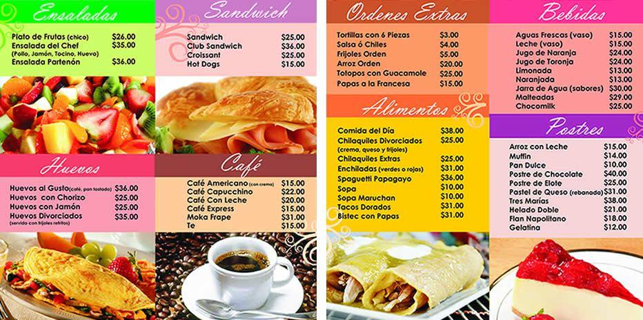 menu para cafeteria buscar con google m cafeteria