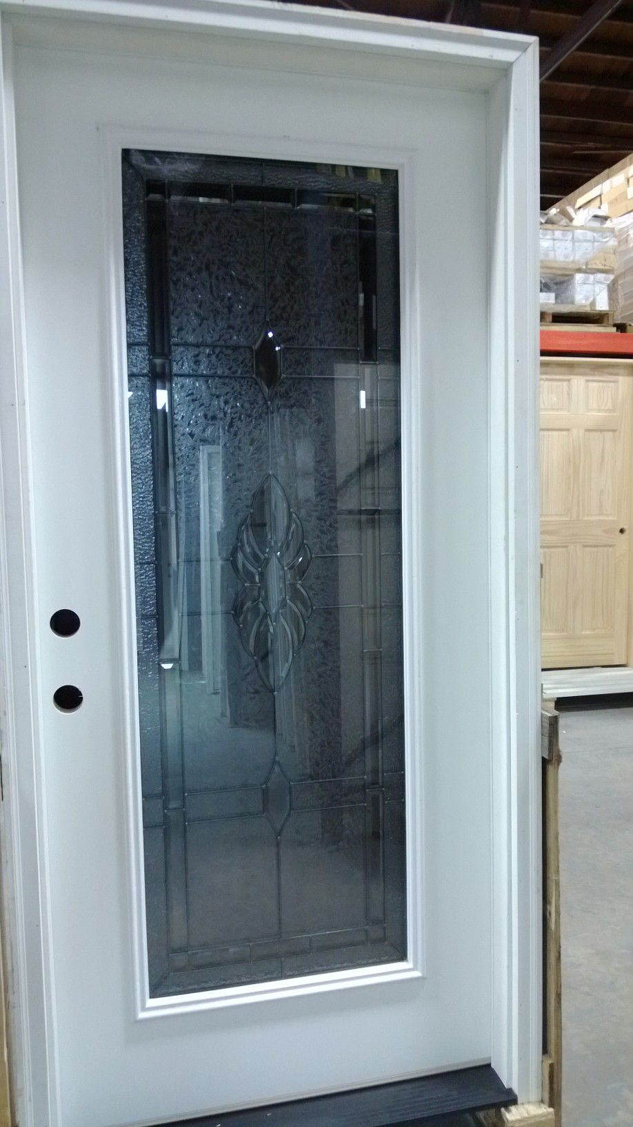 glass front door exterior pre hung door decorative glass fiberglass discount sale in - Glass Exterior Door