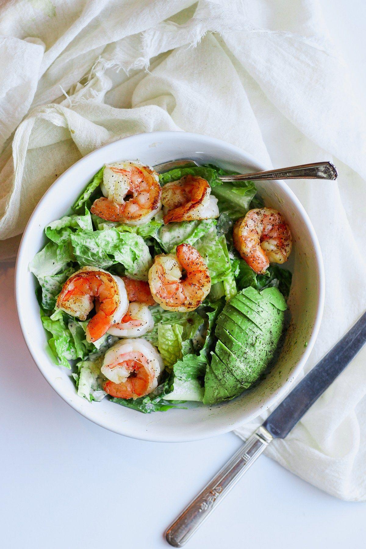 Easy Shrimp Caesar Salad Whole30 Recipe Healthy Eats