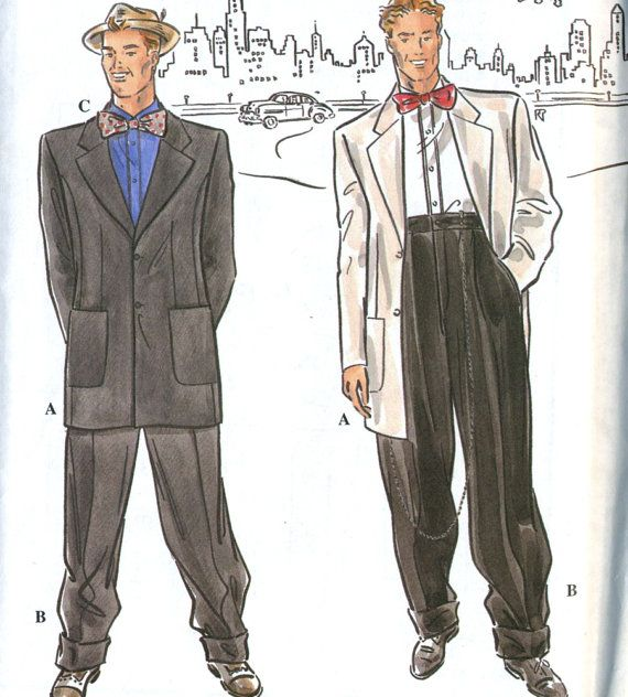 Retro Simplicity 8879 Mens Zoot Suit, Gangster Costume or Tuxedo ...