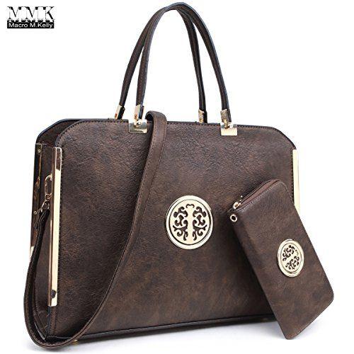 80766752ba MMK collection Women Fashion Pad-lock Satchel handbags with  wallet(2553)~Designer