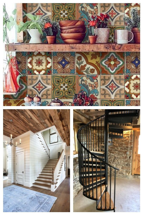 Tile / Wall / Stairs Stickers Mexican Talavera Style 22 MODELS – X 2 SETS (44 pieces)