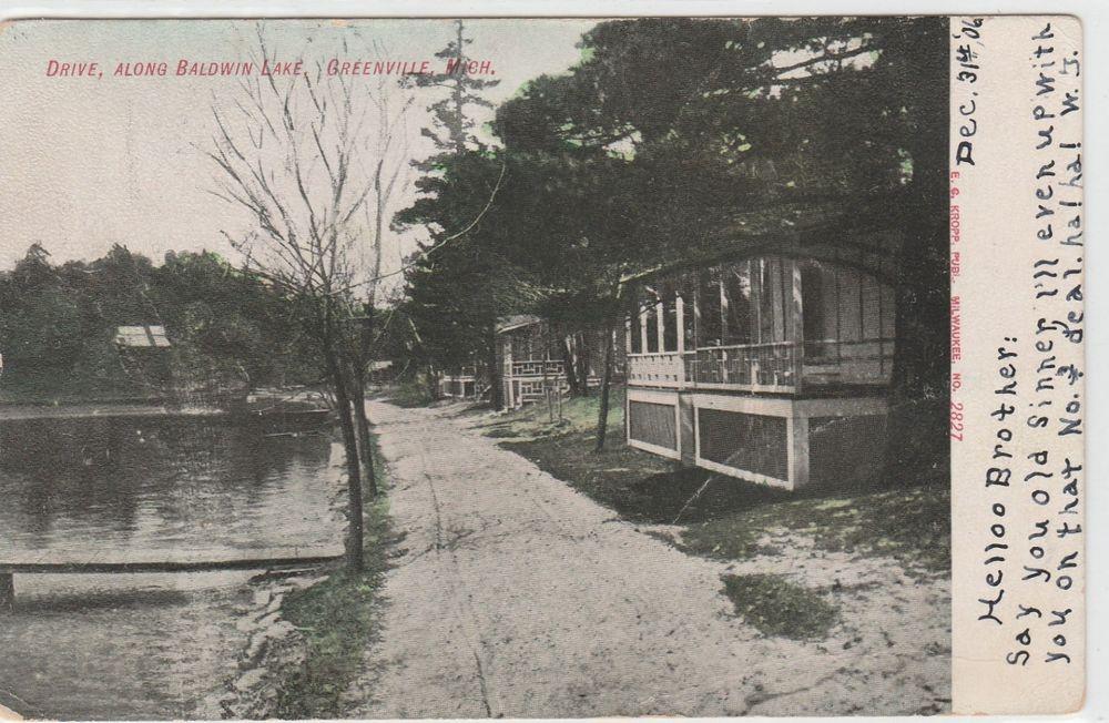 Postcard Drive Along Baldwin Lake Greenville Mi Local Area