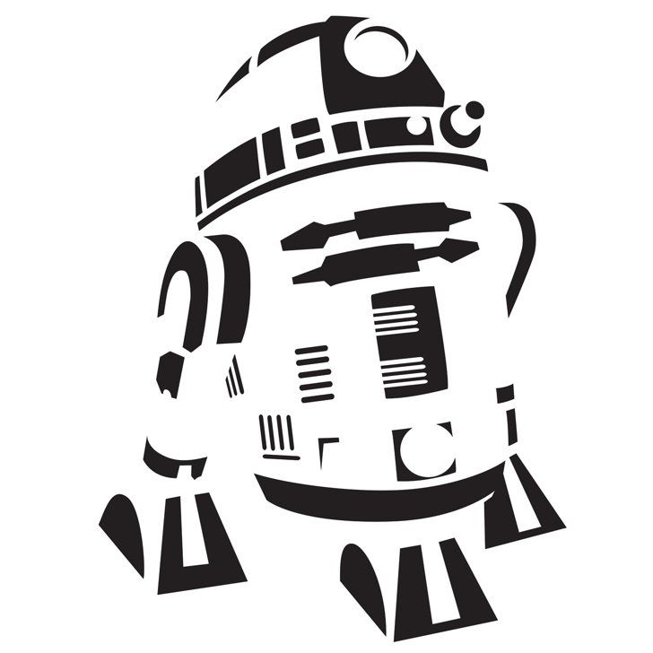r2 d2 pumpkin template template and star