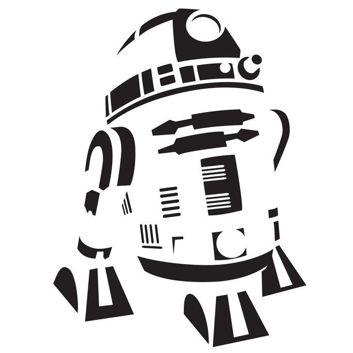 R2-D2 All Things Geeky Pumpkin template, Star wars stencil, Star