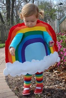DIY rainbow kid Halloween costume tutorial! via @Olivia García García García Gomez
