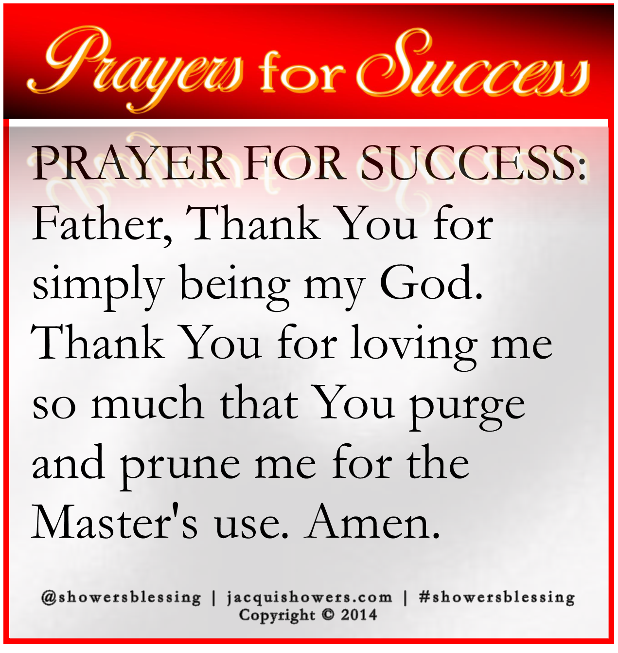 PRAYER FOR SUCCESS Oct 21 | The POWER in PRAYER is SUCCESS