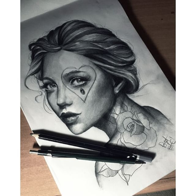 Tattoo Woman Portrait: Realism, Neotraditional, Color & Portrait Tattoos